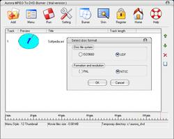 Aurora MPEG To DVD Burner screen 2