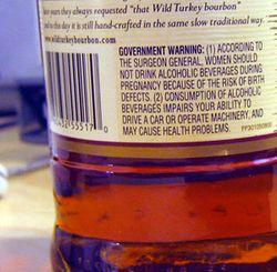 Avertissement whisky alcool
