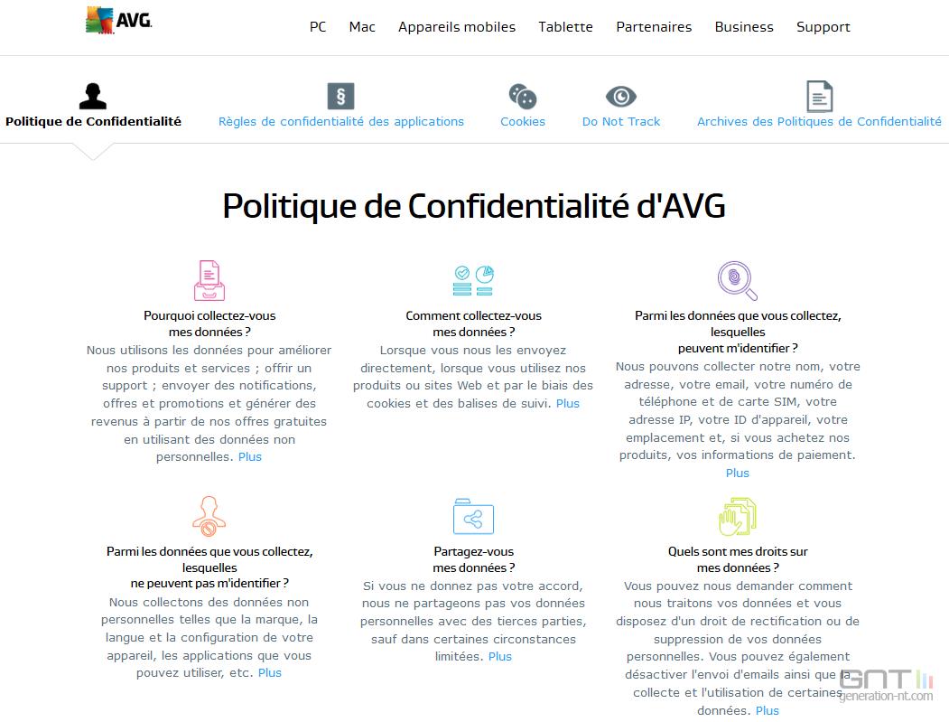 Avg politique confidentialite - Politique de confidentialite ...