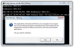 AVG Remover screen1