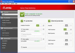 Avira Free Antivirus 2012 screen1