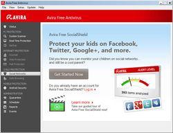 Avira Free Antivirus 2013  screen1