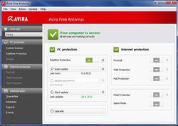 Avira Free Antivirus 2013  screen2
