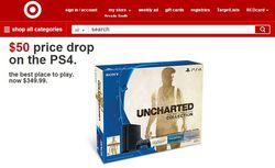 Baisse prix PS4 - Target