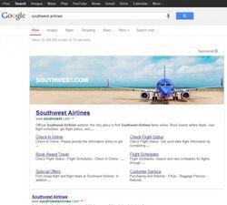 bannière publicitaire Google search