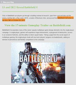 Battlefield 4 - date sortie capture