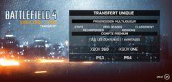 Battlefield 4 - transfert
