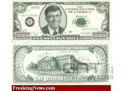 Bill gates billet dollar small