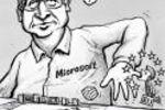 Bill Gates et la Commission Européenne dessin