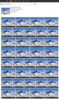 Bing-Image-Match-Everest-2