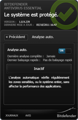 Bitdefender Antivirus Essential screen 1