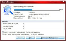 BitDefender QuickScan screen1