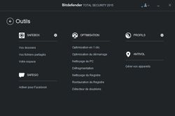 Bitdefender Total Security 2015 outils