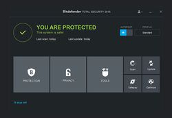 Bitdefender Total Security Multi-Device 2015 screen