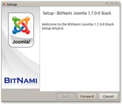 Bitnami Joomla screen1