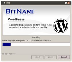 Bitnami Wordpress screen1