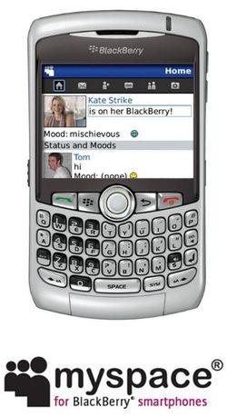 Blackberry MySpace