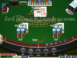 Blackjack Club screen 1