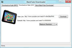 BlackTube Free Youtube Video Downloader