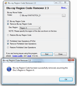 Blu-ray Region Code Remover screen2