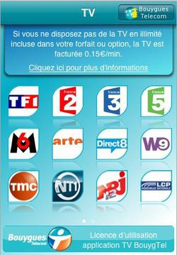 Bouygues Telecom TV iPhone