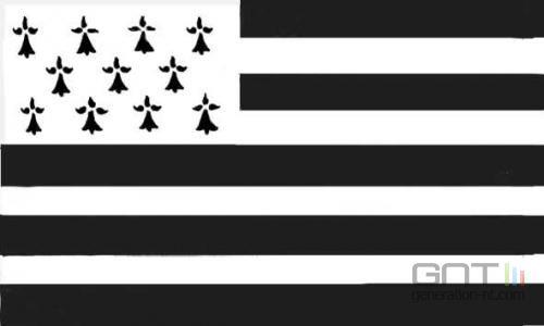 Bretagne drapeau triskel