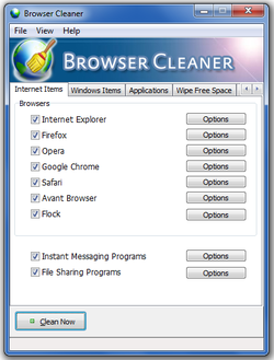 Browser Cleaner screen2
