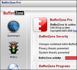 BufferZone Pro screen2