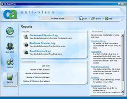 CA Anti-Virus 2009 screen 1