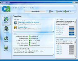 CA Anti-Virus 2009 screen 2