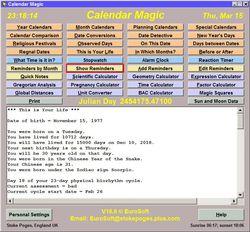 Calendar Magic screen 1