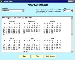 Calendar Magic screen 2
