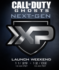 Call of Duty Ghosts - week-end double XP