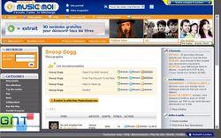 Capture page d'accueil MusicEtMoi
