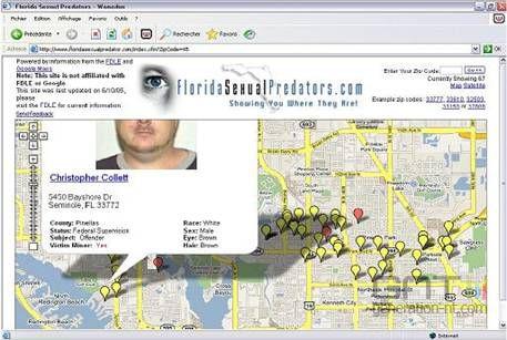 Google maps délinquants sexuels