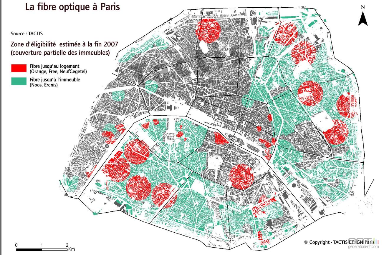 Carte d ploiement fibre optique paris - Carte fibre optique france ...