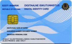 carte identité numérique Estonie