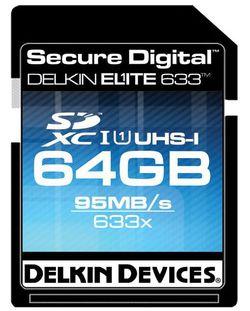 Carte SDXC Delkin Elite 633 64 Go