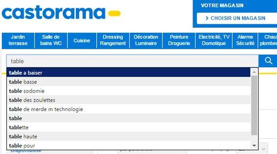 Castorama-pb-moteur-recherche-table