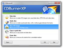 CDBurnerXP Pro screen1