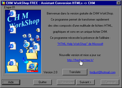 CHM WorkShop screen