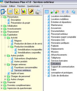 Ciel Business Plan  screen 2
