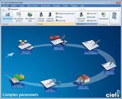 Ciel Comptes Personnels Standard 2011 screen 1