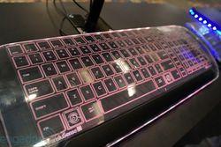clavier transparent