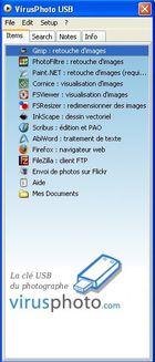 VirusPhoto USB - la clé USB du photographe