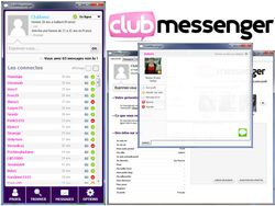 ClubMessenger screen
