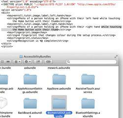 code capteur biométrique iOS 7