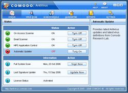 Comodo Antivirus screen2