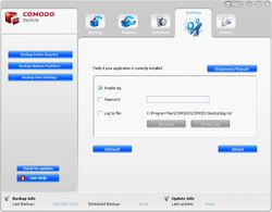 comodo backup screen 2