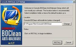 Comodo BOClean Anti-Malware screen2
